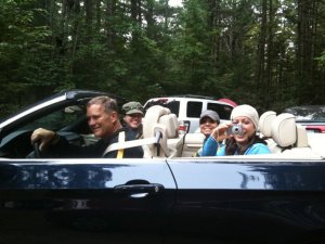 Steve Henkels drives us to hike up in the Adirondacks.